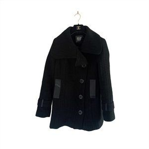 Mackage Wool Peacoat with Leather Details